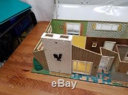 Marx 5025 Ranch Doll House VTG 70s RARE tin litho Mid Century Modern Metal