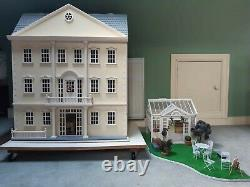 Mayfair Georgian Dolls House With Conservatory, Furniture and Characters