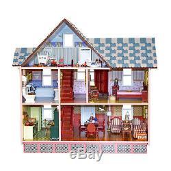 Melissa & Doug 12580 viktorianisches Puppenhaus aus Holz NEU! #