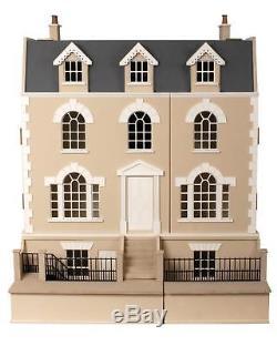 Melody Jane Dolls Houses Georgian Dolls House & Basement 112 Flat Pack MDF Kit
