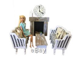 MiniMolly Dollhouse 16 Barbie Size BUNDLE Kitchen Dining Bed Lounge Furniture