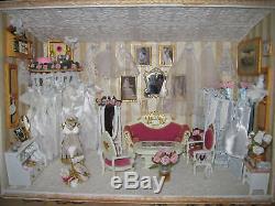 Miniature Bridal Boutique Room Scene Diorama