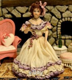 Miniature Doll Porcelain Lady Dollhouse 112 Artist Marie Eisman