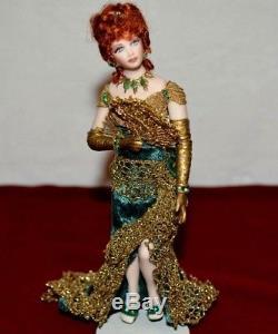 Miniature Doll Porcelain Lady Dollhouse 112 Woman Artist Connie Hansen DIAMONDS