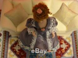 Miniature Doll Porcelain Woman Lady Dollhouse 112 Bisque Artist