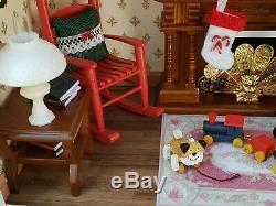Miniature Dollhouse 112 Scale Christmas Display Room Box Diorama by Cyndi