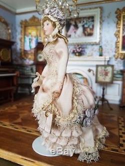 Miniature Dollhouse Artisan Porcelain Young Woman Doll 112
