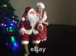 Miniature OOAK 1/12 Santa Claus & Mrs Claus Christmas dollhouse, ALMA Artistry