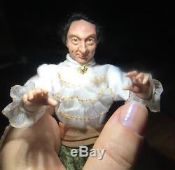 Miniature OOAK 1/12 doll Wizard, Sorcerer, Magician f/dollhouse, ALMA Artistry