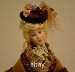 Miniature Porcelain Doll Lady Woman Dollhouse 112 Artist
