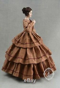 Miniature Porcelain Dollhouse Doll in 112 Scale-Victorian Lady