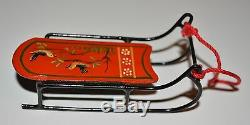 Miniature sled dollhouse Therese Bahl 112 signed