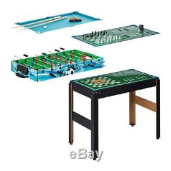 Multifunktionsspieltisch 14 in 1 Tischspiele Tischfußball Billard Bowling Schach