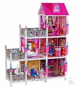 My Princess' Villa Dolls House With Furniture & Frozen Anna & Elsa Xmas Gift