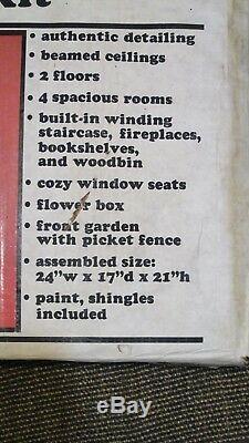New 1983 Greenleaf Wood Tudor The Glencroft Dollhouse Kit Unused READ