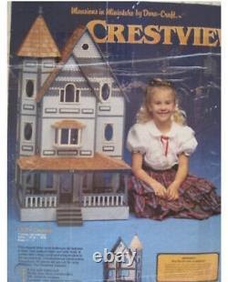 New Rare Miniature Wood Doll House Dura-Craft Kit The Crestview 22X43x18