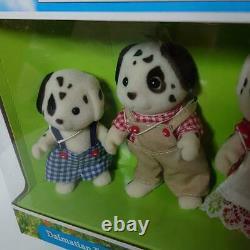 New Sylvanian Families Calico Critters Dalmatian Family Set Rare Flair 32
