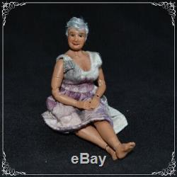 OOAK 1/12 scale bjd GRANDMA doll by Zjakazumi mature content TOFFEE skin
