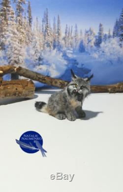 OOAK 112 Lynx with Rat Handsculpted Realistic Dollhouse Miniature Handmade pet