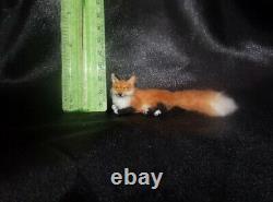 OOAK 112 Red fox realistic miniature handmade dollhouse handsculpted cat IGMA