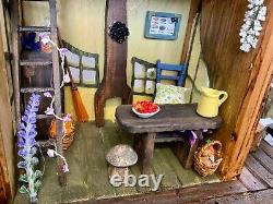 OOAK Dolls House Fairy Meadows Cabin Contents Included. Very Pretty