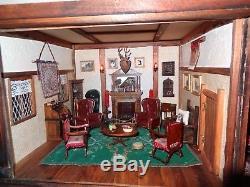 OOAK Downholme Hall charming vintage Elizabethan Dolls House