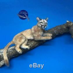 OOAK dollhouse wild animal cat realistic handmade mini IGMA Artisan N. Naumenko