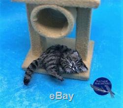 OOAK kitten cat handmade realistic dollhouse pet IGMA ARTISAN Natalie Naumenko