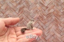 OOAK realistic dollhouse miniature Siberian cat