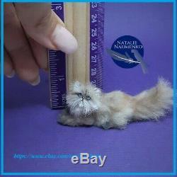 Persian Cat OOAK 112 Miniature Dollhouse Handmade Handsculpted Realistic animal