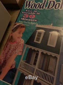 Petite Dreams Victorian Wood Dollhouse Kit 3 1/2 Feet TALL 7 Rooms #20002 NIB
