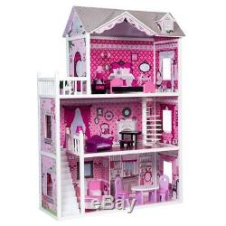 Pink Decorated Barbie Dollhouse Furniture Doll House Kids Toys Dolls