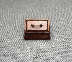 RARE Authentic Bill Robertson Miniature Chippendale Georgian Tea Caddy 1976