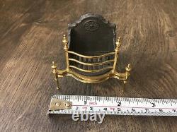 RARE Dolls house miniature 112 ARTISAN fire basket / grate by ALEX ROTHWELL