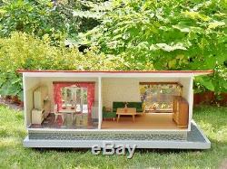 RARE original SCHOENHERR dollhouse BUNGALOW 50s VINTAGE 60s GOTTSCHALK