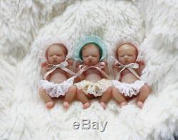 REALISTIC 112 dollhouse scale resin baby girl from OOAK by YivArtDolls bassinet
