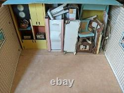 Rare 1963 Tammy Dream Cardboard Doll House Ideal Toy 9308 USA Almost Complete