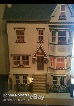 Rare Sid Cooke Large Dolls House With Furniture Basement And Table