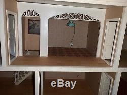 Rare vintage Lundby Wooden Dollhouse sweden balcony electrical lightning