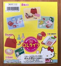Re-Ment Miniature Sanrio Hello Kitty Office Lady OL Stationery Full set of 8 JP