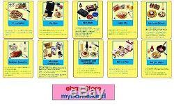 Re-ment Full Set of 10 FUN MEALS BARBIE SZ MINIATURE FOOD VHTF RARE