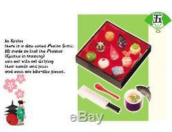 Re-ment Full Set of 10 PLUS SECRET I LOVE KYOTO BARBIE MINIATURE JAPANESE FOOD