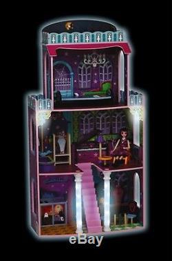 Riesengroßes Holz Puppenhaus Spooky 118x62x28cm passend für Monster High Barbie