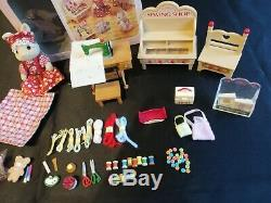 SYLVANIAN FAMILIES Ivory Rabbit Sewing Shop SET Retired CALICO CRITTERS Epoch