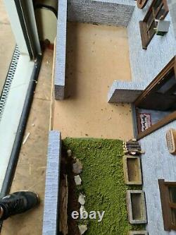 Smugglers cottage dolls house with garden 1.12th
