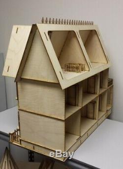 Stephanie Country Mansion Half Inch Scale Dollhouse Kit