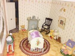 Stunning 3 Storey Victorian Dolls House Fully Furnished With Extras