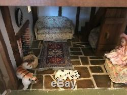 Stunning Handmade, Country Cottage Dolls House 360 degree finish Museum Quality