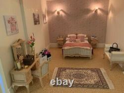 Stunning dolls house PLUS basement fully furnished, decorated and lighting