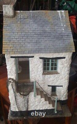 Stunning fishermens Cottage Dolls House 360 degree finish Museum Quality